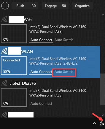 Barra Tareas Icono Wifinian Conmutador Automático Red Wifi Activo