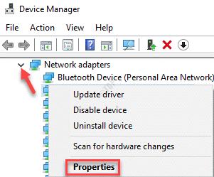 Adaptadores de red del Administrador de dispositivos Expanda el dispositivo de red Haga clic con el botón derecho en Propiedades