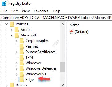 Cambiar el nombre de New Key Edge