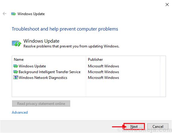 Solucionador de problemas de Windows Update1