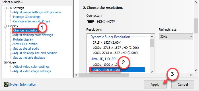 Cambiar resolución mínima