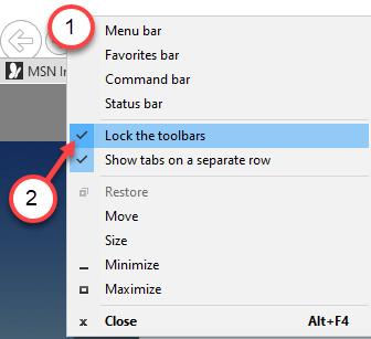 Bloquear las barras de herramientas Min