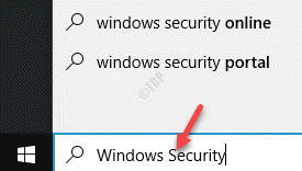 Iniciar la barra de búsqueda de Windows Seguridad de Windows