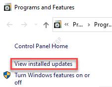 Programas y funciones Ver actualizaciones instaladas
