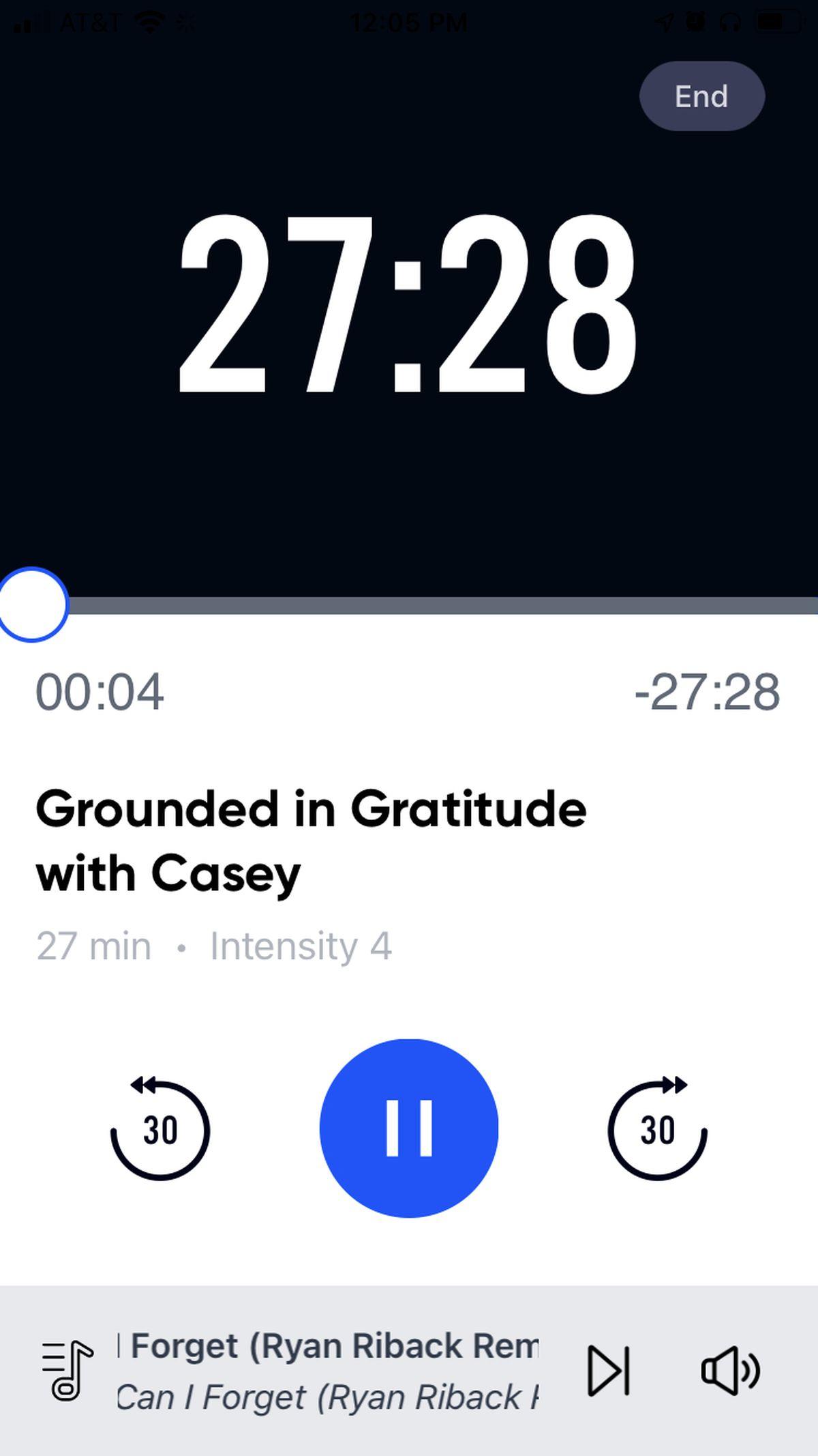 Un vistazo a la aplicación durante una carrera.