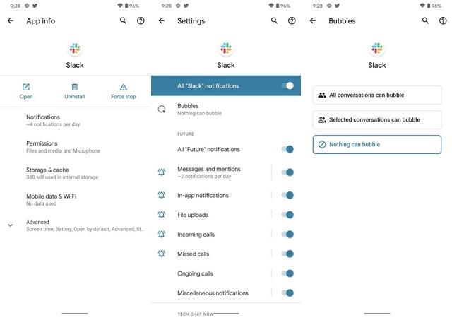 Cambiar la configuración de la burbuja de chat