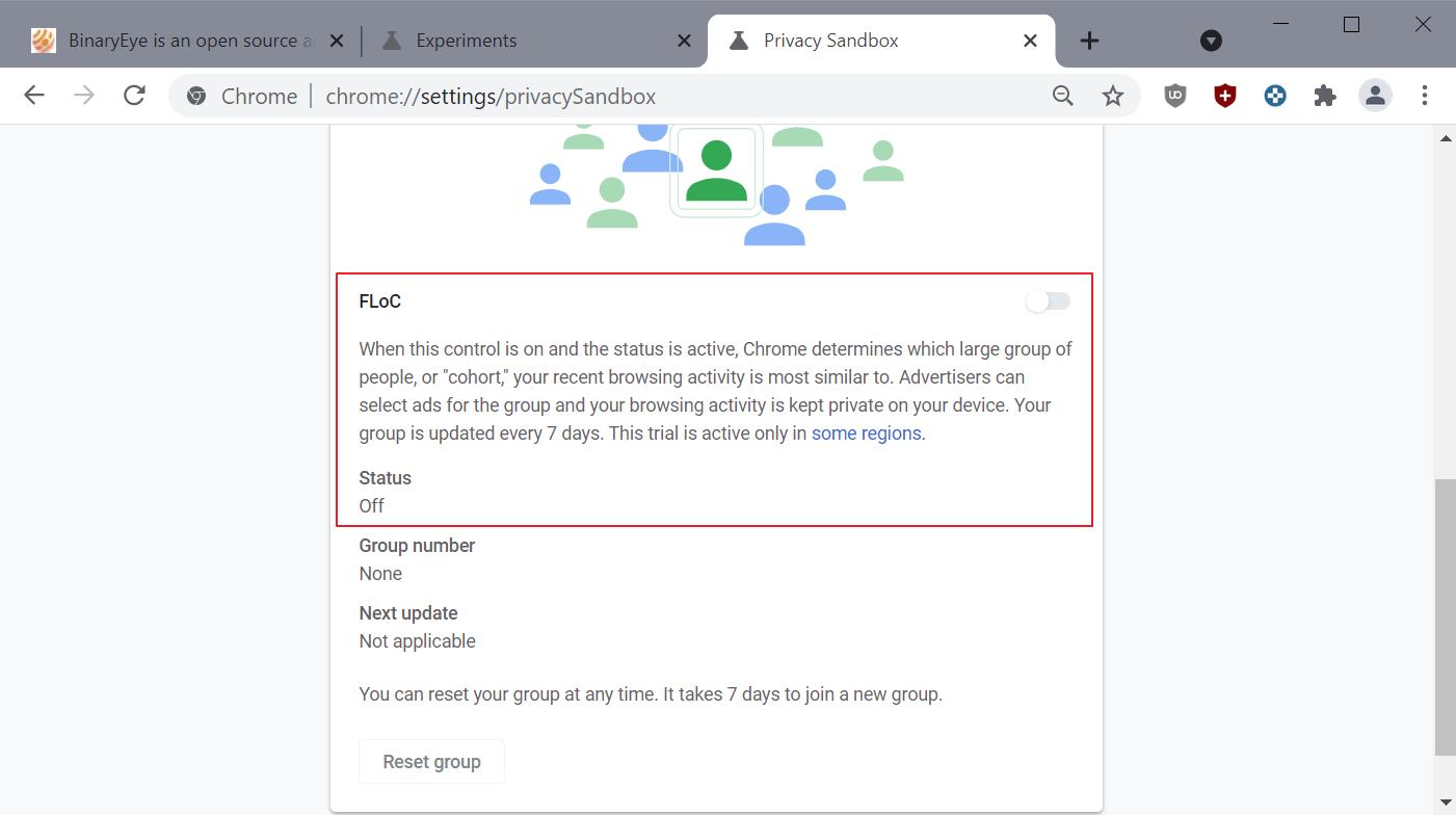 deshabilitar google floc chrome