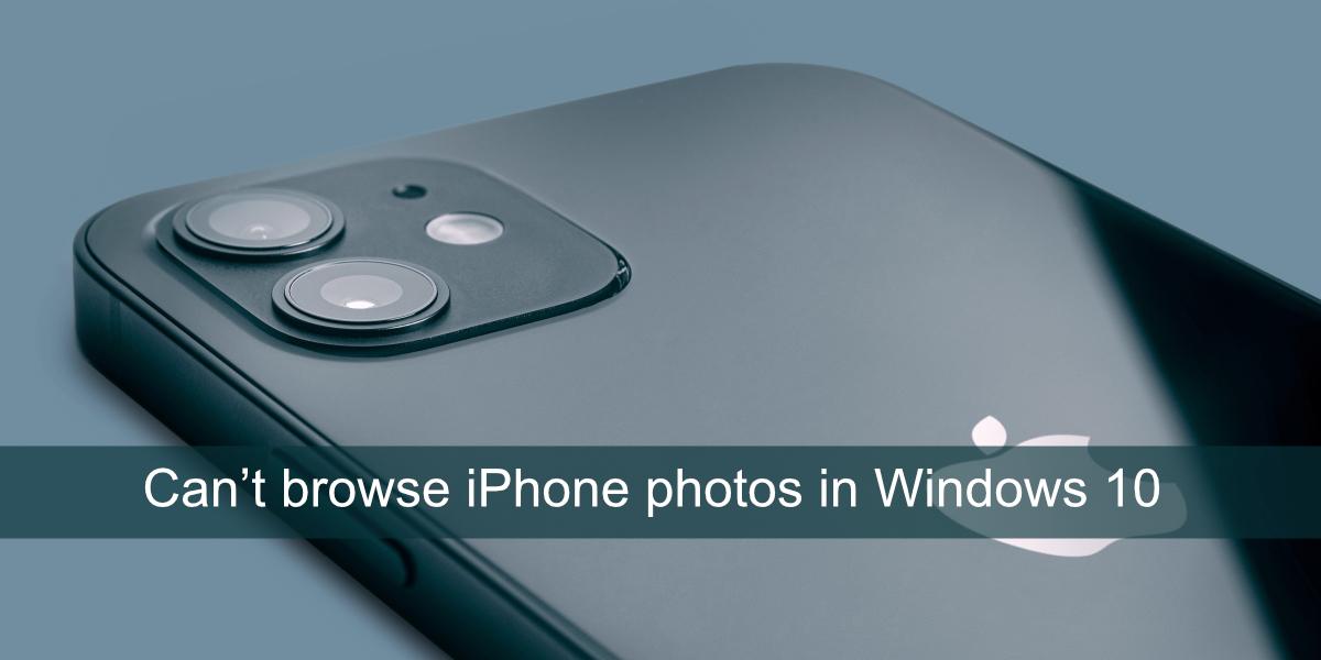 Windows no puede ver fotos de iPhone
