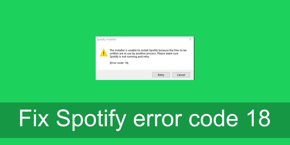 Código de error 18 de Spotify