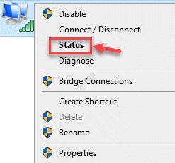 Conexiones de red Wifi Estado del clic derecho