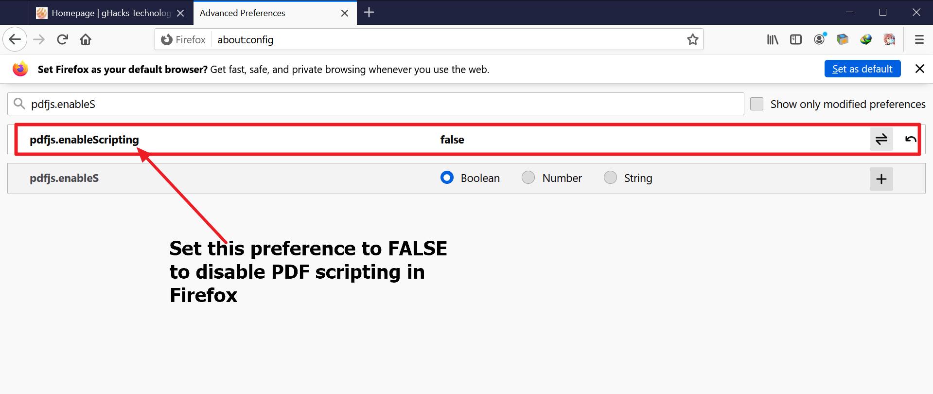 firefox deshabilita javascript en pdf