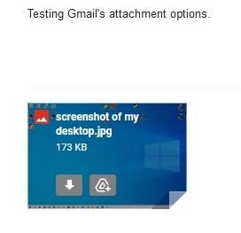 Opciones de archivos adjuntos de Gmail