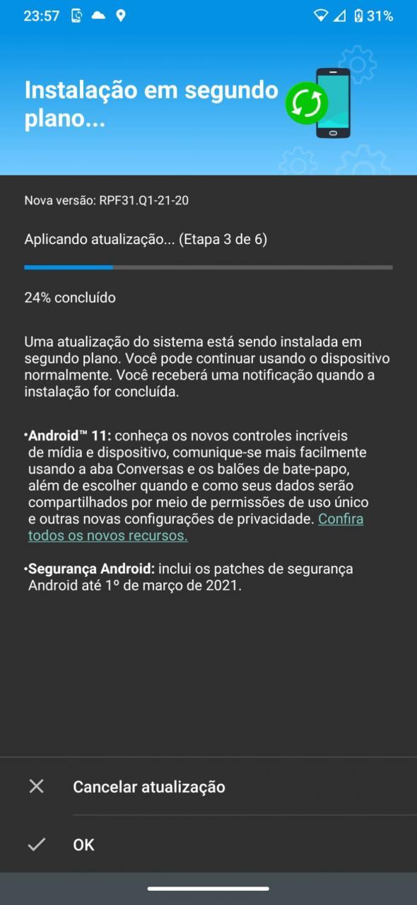 El One Hyper de Motorola se actualiza a Android 11