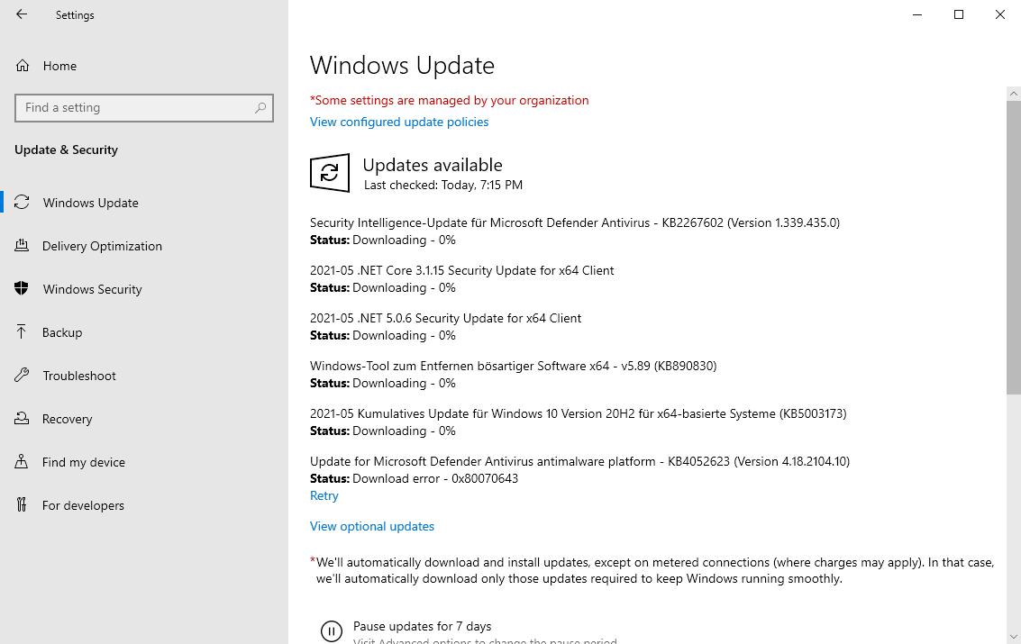 actualizaciones de windows 10 de mayo de 2021