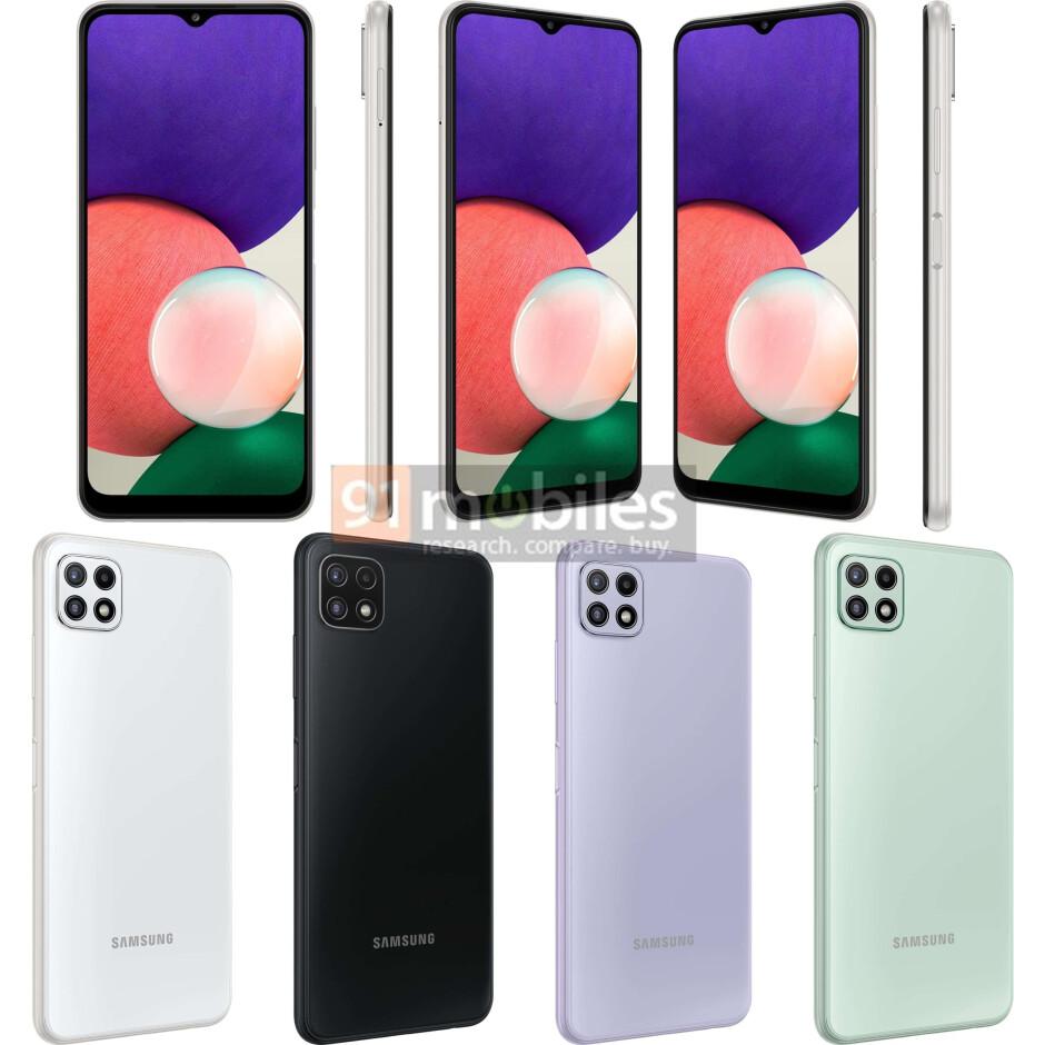 Los asequibles Samsung Galaxy A22 4G y 5G se detallan en una nueva filtración