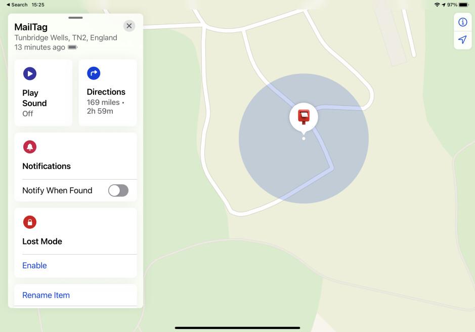 El AirTag indicó la ubicación del amigo, pero nunca alertó a la persona que podría ser acosada: el usuario rastrea el paquete con AirTag en todo el Reino Unido.