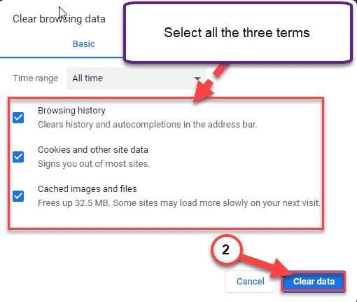 Borrar mínimo de datos