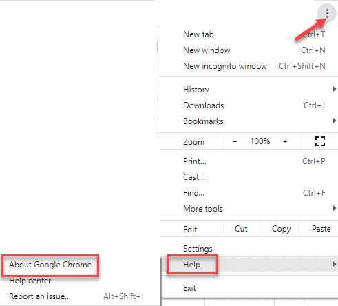 Ayuda de configuración de Chrome Acerca de Google Chrome