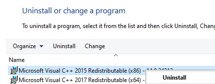 Desinstalar programas X86