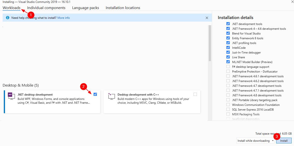 Mínimo de configuración de Visual Studio Express (1)