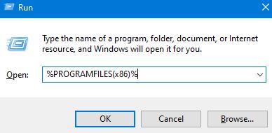 Archivos de programa en ejecución