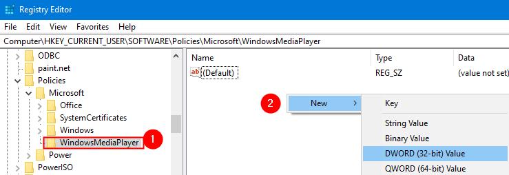 Nuevo Dword dentro de Windowsmediaplayer