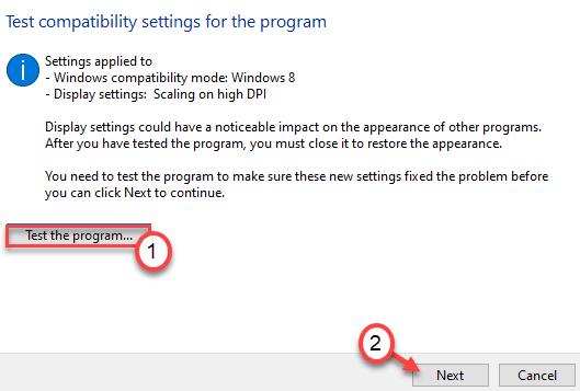 Probar el programa Min