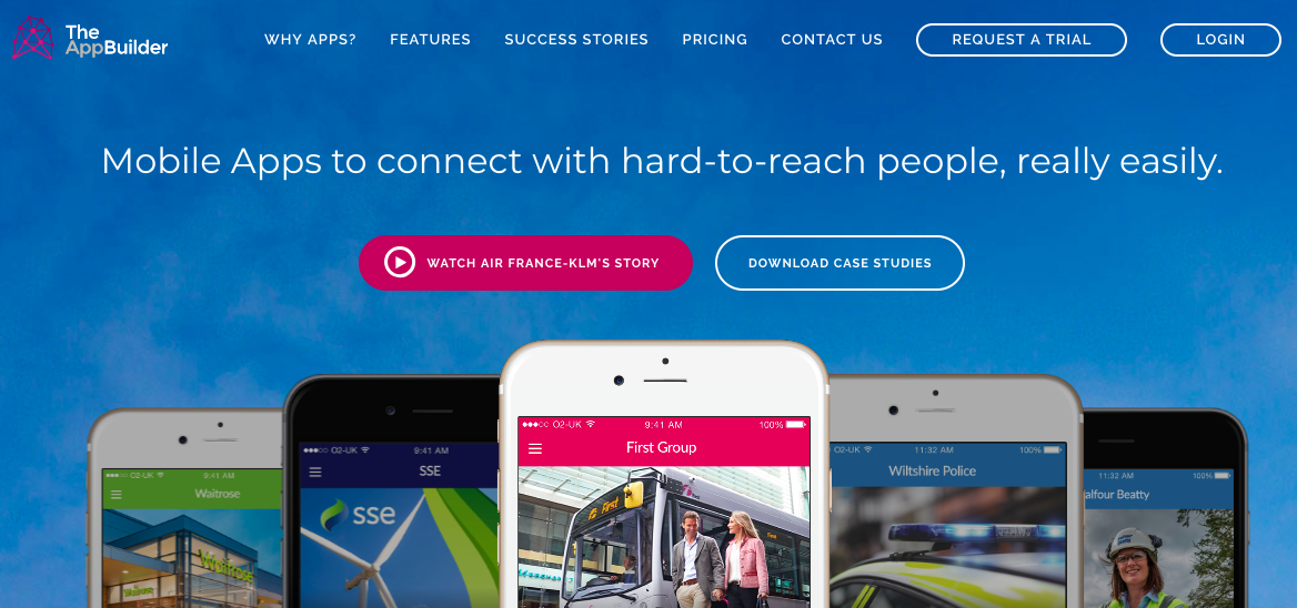 Plataforma de creación de aplicaciones móviles: TheAppBuilder