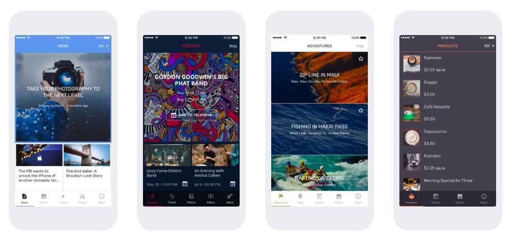 Plataforma de creación de aplicaciones móviles: ShoutEm