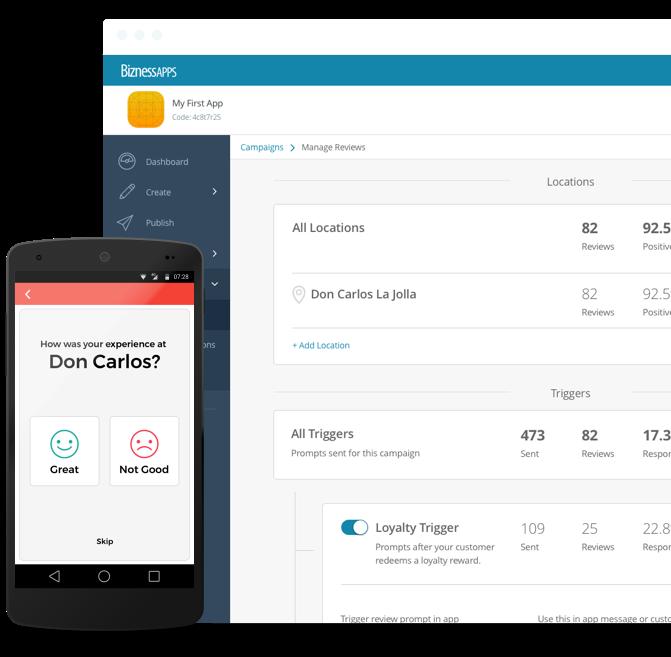Plataforma de creación de aplicaciones móviles: BiznessApps
