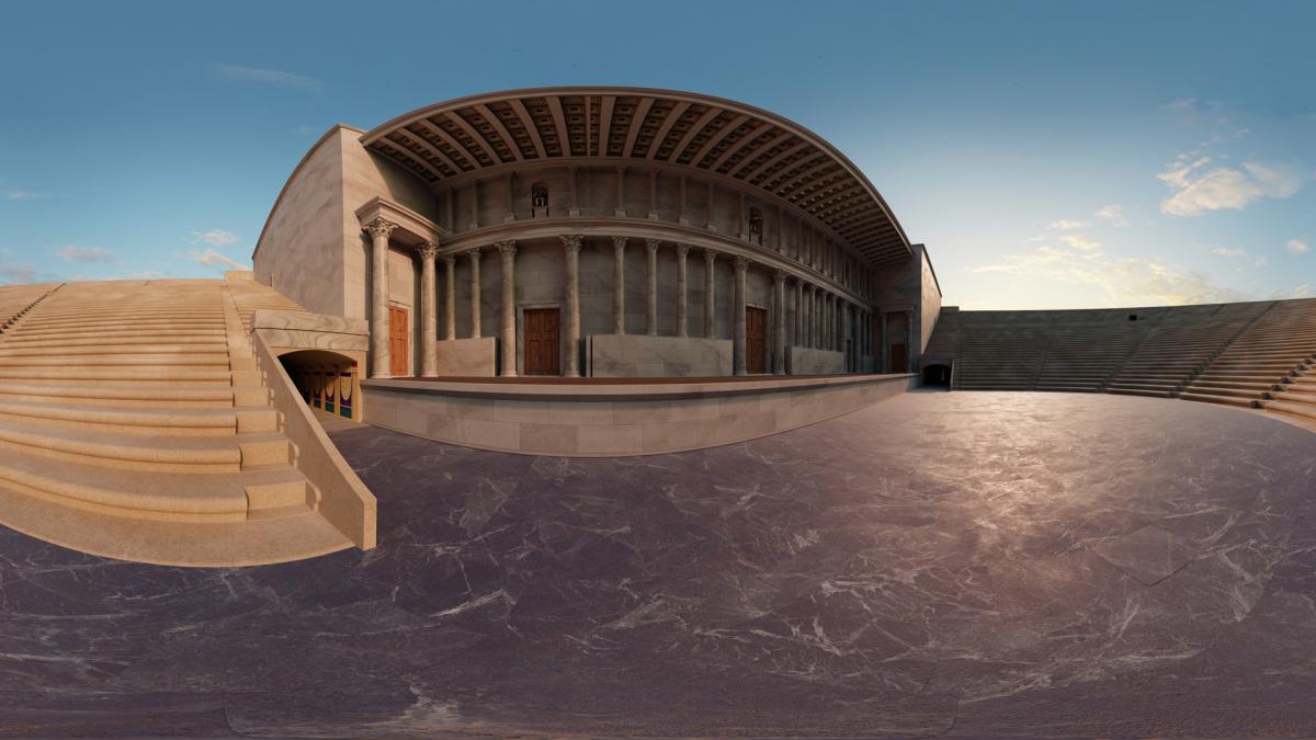 La aplicación de realidad virtual te permite explorar un teatro en la antigua capital de Chipre