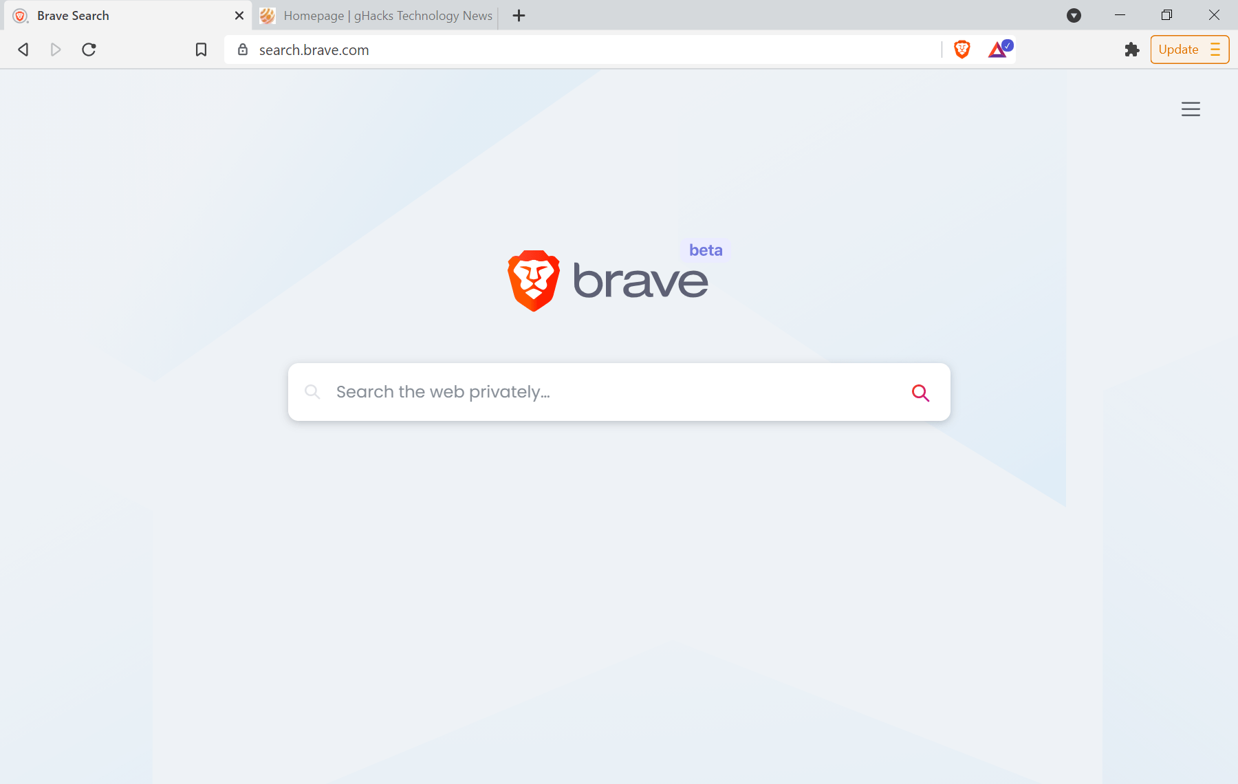 búsqueda valiente beta