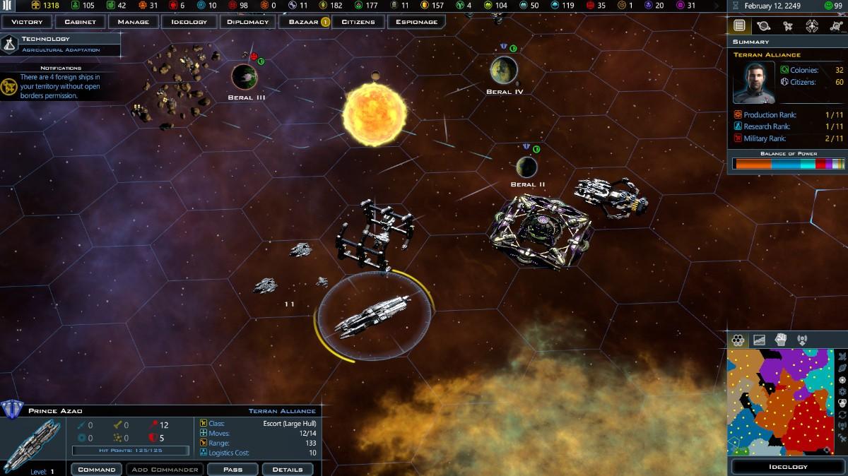 Civilizaciones Galácticas III en Linux