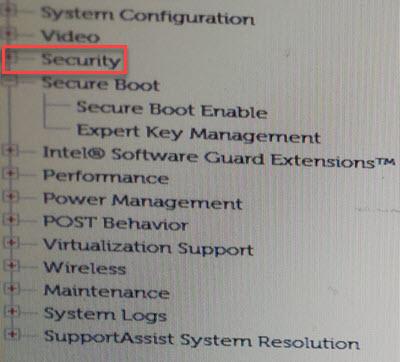 Seguridad de configuración de arranque