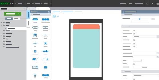 Plataforma de creación de aplicaciones móviles: Appery.io