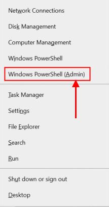 Administrador de Windows Powershell