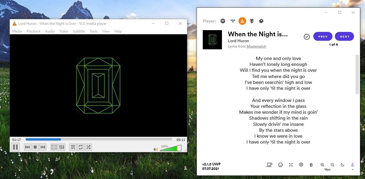 Versefy letras VLC