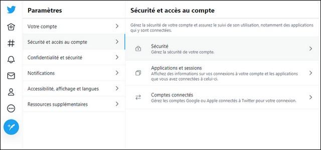 Configuración de seguridad de Twitter