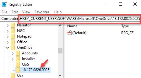 Editor del registro Navegar por la clave de la aplicación Tp Onedrive Eliminar la carpeta numérica