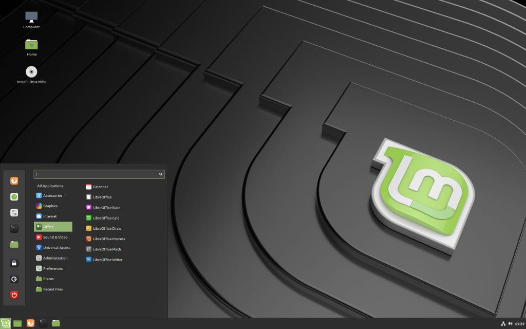 escritorio linux mint 19.2