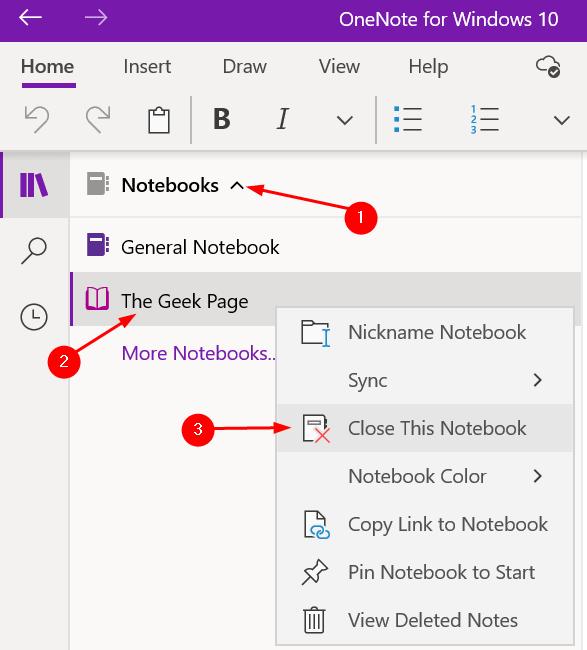 Cerrar Notebook Onenote Windows Min