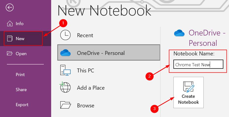 Crear nuevo cuaderno mínimo