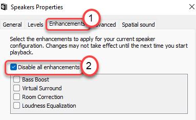 Disable Enhancements Min