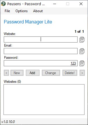 Password Manager Lite es un administrador de contraseñas fuera de línea fácil de usar para Windows
