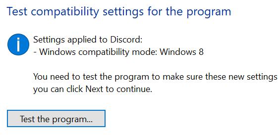 Configuración de compatibilidad de prueba de discordia Mínimo