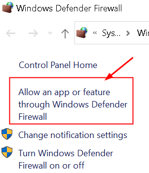 Firewall de Windows Permitir aplicación mínima