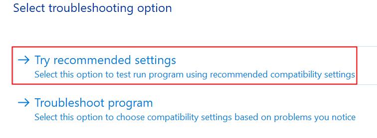 Solución de problemas de discordia Pruebe la configuración recomendada Mín.