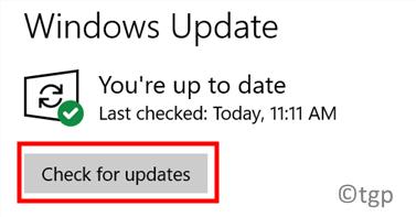 Actualización de Windows Buscar actualizaciones Mín.