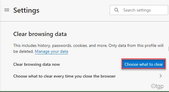 Borrar mínimo de datos de navegación