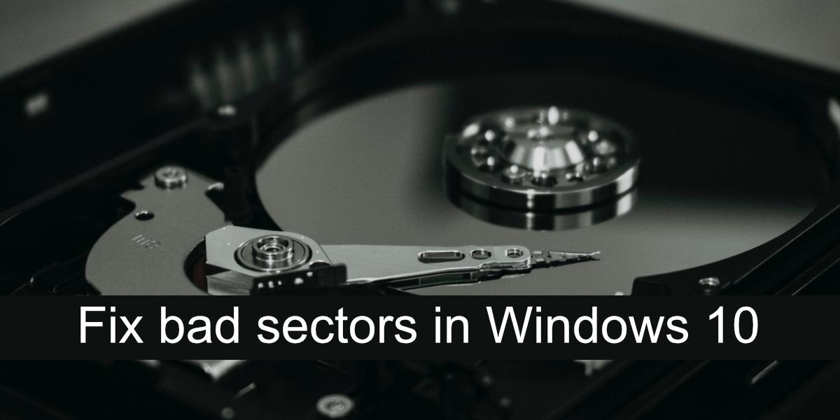 arreglar sectores defectuosos en Windows 10